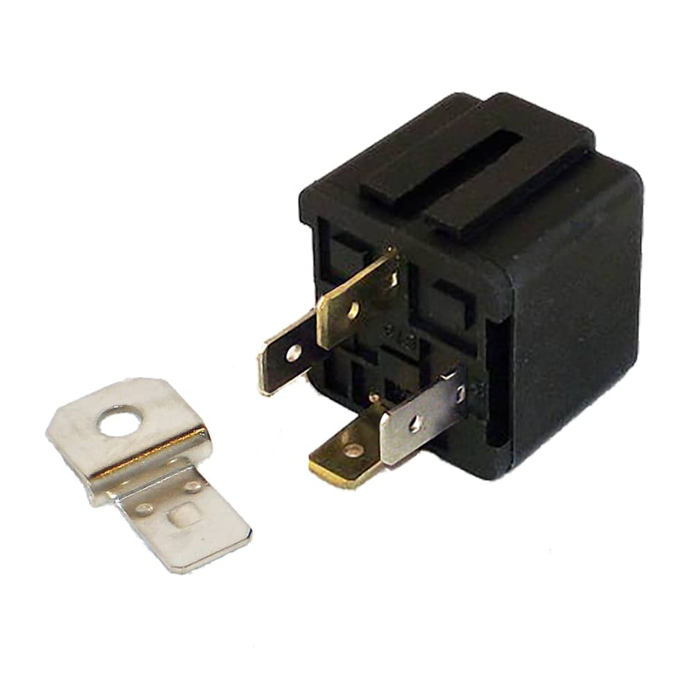 12V 30A 4 Pin Relay with Detachable cket - 1 Pack (SPP-118-C)  Prong Volt Relay Wiring on
